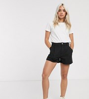 Asos Petite ASOS DESIGN Petite chino short in black 13558683