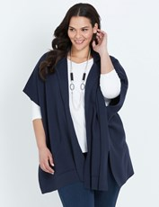 Autograph Open Front Poncho NAVY