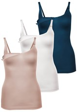 B Free Intimate Apparel Bamboo Nursing Camisole with Built-In Bra - Fancy 3 Pack