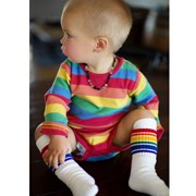 "Pride Socks 10"" Baby/toddler Rainbow Striped Tubes - 1 by Pride Socks"