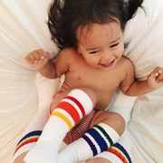"Pride Socks 10"" Baby/toddler Rainbow Striped Tubes - 3 by Pride Socks"