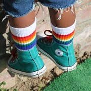 "Pride Socks 10"" Baby/toddler Rainbow Tubes - 2 by Pride Socks"