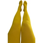 Slugs & Snails Organic Block Colour Adult Tights - Yellow