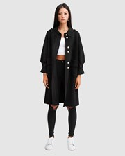 Belle & Bloom Lived In Love Wool Blend Coat - Black