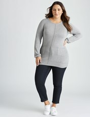 Beme The Secret Shaper Slim Short Jean dk denim