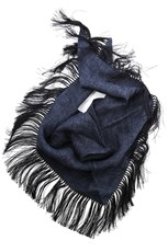 Destin Triangola Temple Fringe Scarf Blue