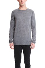 Helmut Lang Merino Crewneck Sweater Heather Grey
