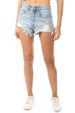 Ksubi Clas-Sick Cut Off Shorts Billbored Blue