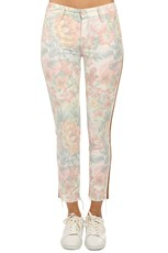 MOTHER The Looker Ankle Fray Jean So Far Gone Floral Racer