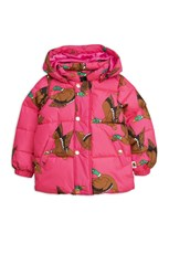 Mini Rodini Wild Duck Hooded Puff Jacket Cerise