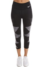 Nike Geometric 3/4 Tights Black/White/Grey