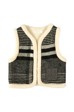 Oaks of Acorn Fuzzy Monochrome Vest Charcoal Grey