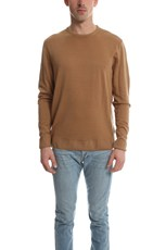 Sunspel Wool Crewneck Jumper Camel