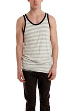 V::ROOM Reverse Stripe Tank Top Beige Front layer, Navy/Beige Stripe under