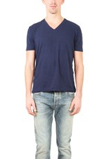 V::Room Short Sleeve V Neck Cash Tee Navy