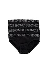 Bonds Girls Bikini 4 Pack Black