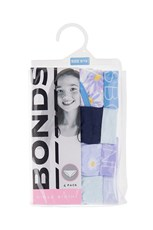 Bonds Girls Bikini 4 Pack Daisy Day Little Blue