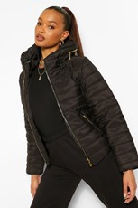 Boohoo Fitted Quilted Jacket FZZ83515