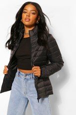 Boohoo Funnel Neck Puffer Jacket FZZ56724