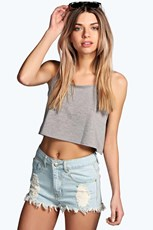 Boohoo High Waist Ripped Denim Shorts AZZ57923