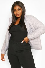 Boohoo Plus Basic Puffer Coat PZZ62025