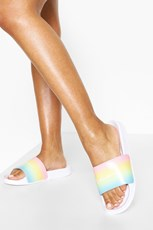 Boohoo Rainbow Woman Sliders FZZ65590
