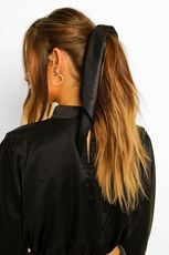Boohoo Satin And Scarf Hair Tie FZZ46717