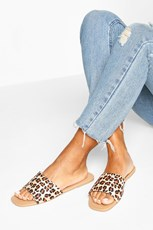 Boohoo Square Toe Basic Sliders FZZ74028