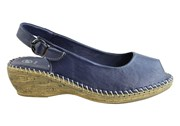 Cabello Comfort 5317-18 Womens Leather Comfort Wedge Sandals