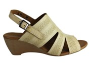 Orizonte Pinta Womens European Leather Comfortable Wedge Sandals