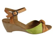 Orizonte Toronto Womens European Leather Comfortable Wedge Sandals