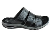 Pegada Evan Mens Leather Comfy Cushioned Slide Sandals Made In Brazil