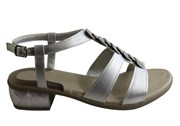 Scholl Orthaheel Scholl Bioprint Calypso Womens Low Heel Sandals With Comfort Footbed
