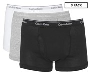 Calvin Klein Men's Cotton Trunks 3-Pack - Black/Grey/White