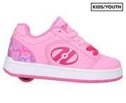 Heelys Girls' Asphalt 1-Wheel Skate Shoes - Pink/Hearts