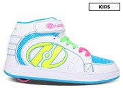 Heelys Girls' Paver 1-Wheel Skate Shoes - White/Neon Multi