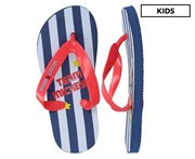 Mickey Mouse Boys' Stripe Print Thongs - Blue