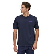 Patagonia Men's Together For The Planet Logo Organic T-Shirt - New Navy