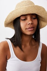 Rubi Kimberley Crochet Bucket Hat NATURAL