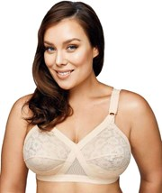 Playtex 18 Hour Cross Your Heart Wire-Free Lace Bra - Beige