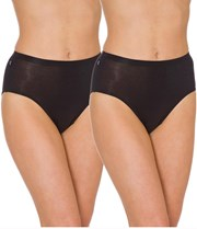 Sloggi Hikini 2 Pack Brief - Black