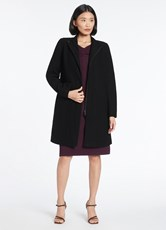 David Lawrence MADISON FELTED WOOL COAT BLACK