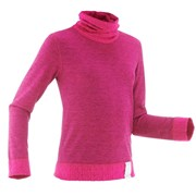 Wedze 2warm Kids Long-Sleeve Base Layer Ski Top Fuchsia