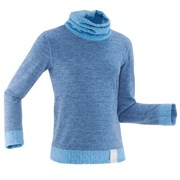 Wedze 2warm Kids Long-Sleeve Base Layer Ski Top Slate Blue
