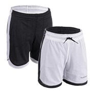 Tarmak SH 500 Reversible Kids Basketball Shorts Snow White
