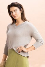 Capture V Neck Lightweight Knit 234252
