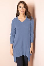 Capture V Neck Swing Tunic Sweater 190256