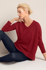 Emerge V Neck Asymmetric Sweater 195771