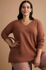 Sara Lambswool V Neck Sweater 218528