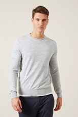 French Connection (Fcuk) MERINO WOOL CREW KNIT GREY MARL